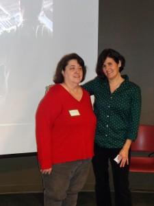 Marie Pellegrino (left) and Sandra Hernandez, co chairs Arlington Greens