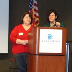 Marie Pellegrino and Sandra Hernandez at January Green Filmfest at Central Library